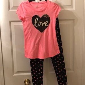Justice 2 pc Love and heart set